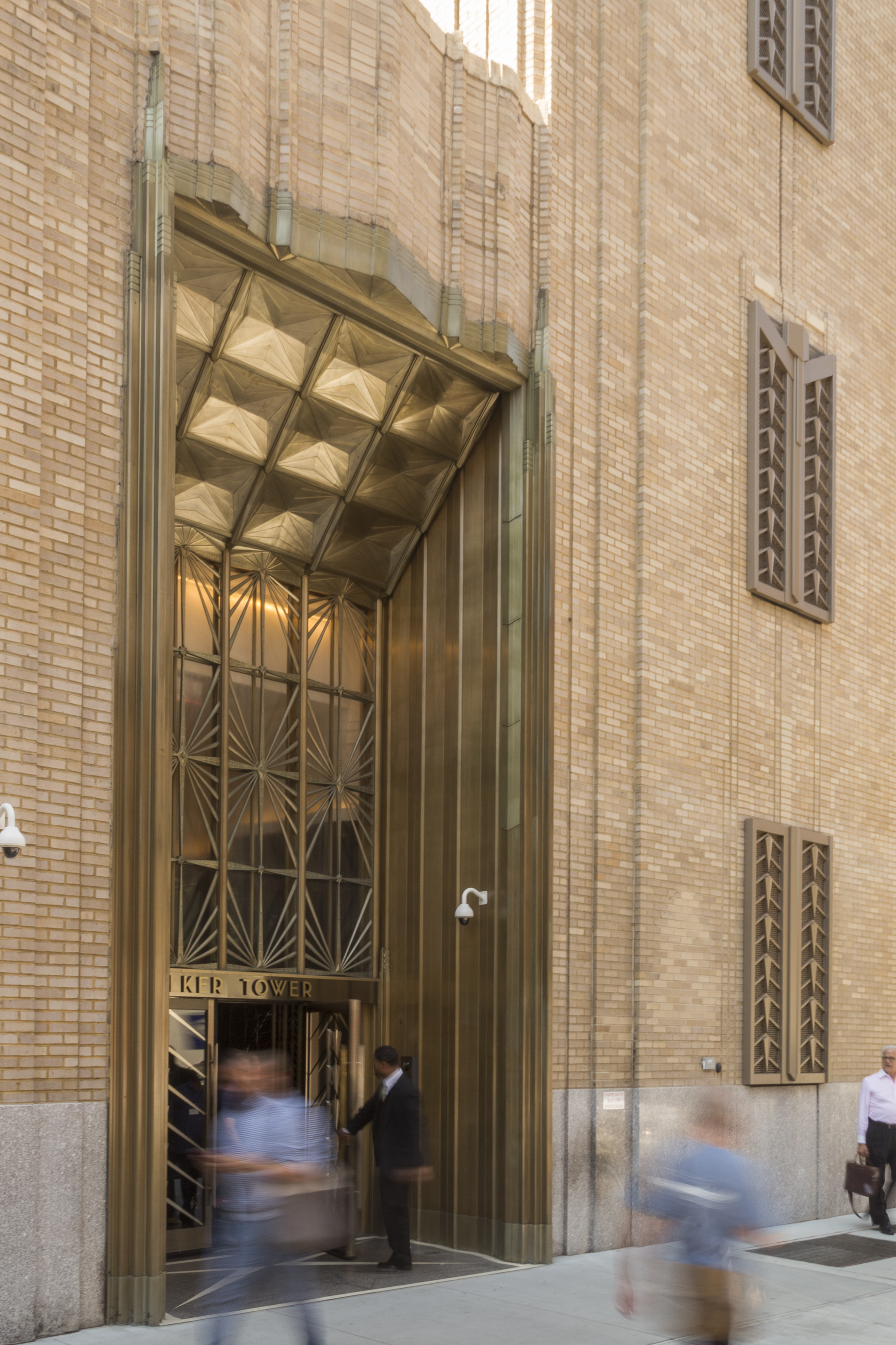 North entrance for Walker Tower in New York City.