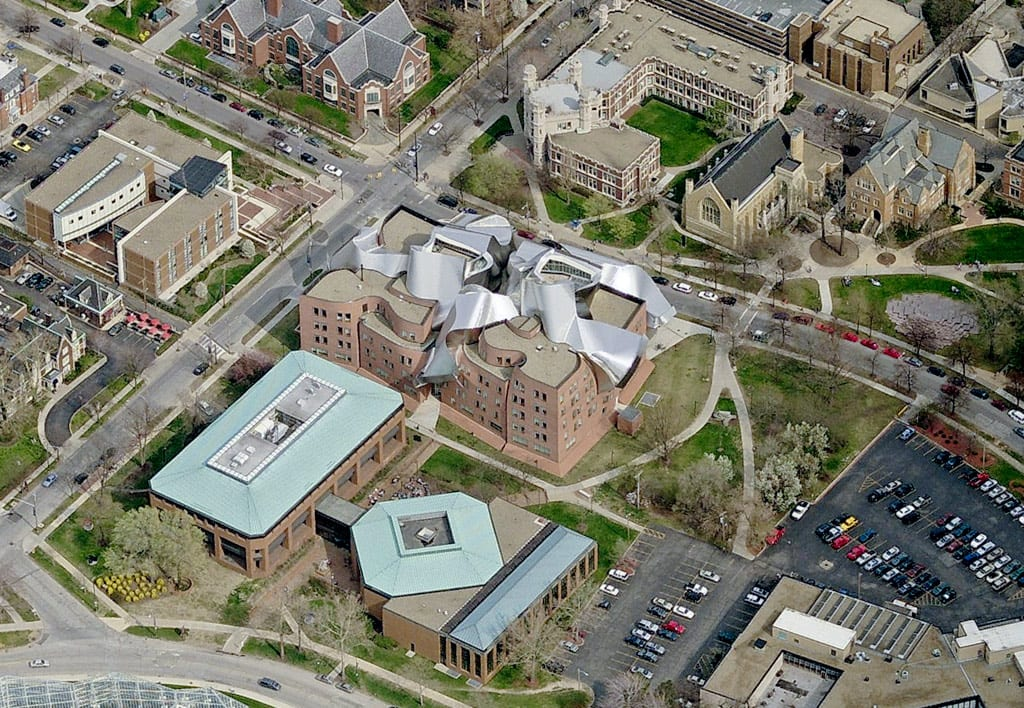 Aerial view of Weatherhead School of Management