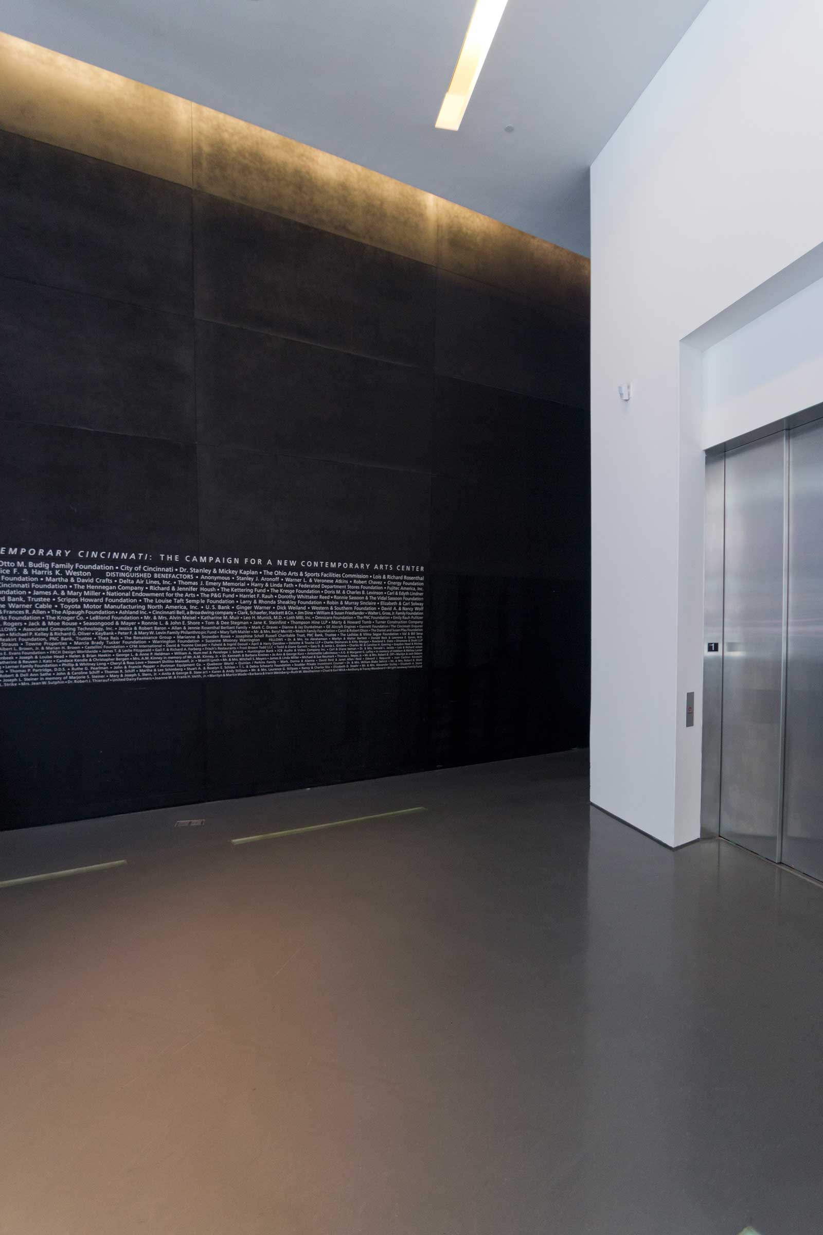 Interior photograph of the Lois & Richard Rosenthal Center for Contemporary Art.